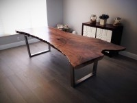 Live Edge Kitchen Table Images - Bar Height Dining Table Set