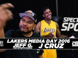 The Los Angeles Lakers Recite Narcos Quotes, Play 'Heads Up', And More!