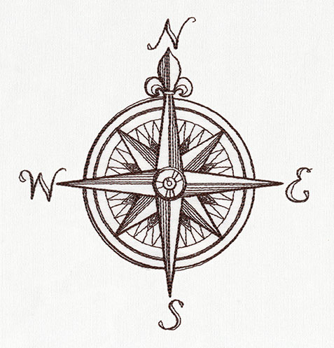 Nauticus - Compass Rose Urban Threads Unique and Awesome