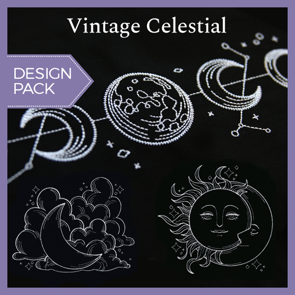Vintage Celestial - Constellations Urban Threads Unique and