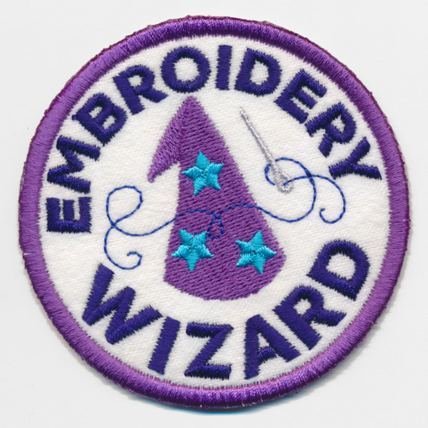 Crafty Merit Badges - Embroidery Wizard (Patch) Urban Threads