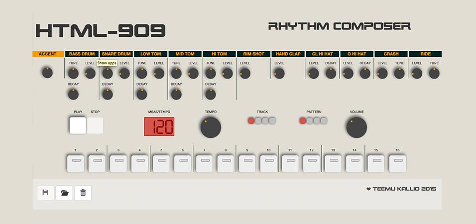 Drum Machine roland 909 URBe