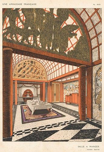 Salle a Manger by Henri Rapin Une Ambassade Francaise Rene Chavance