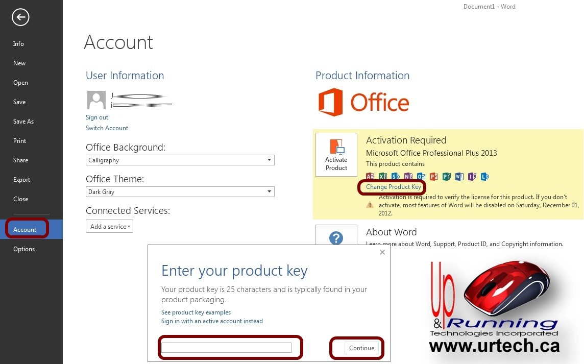 Как изменить ключ продукта Office для дома и бизнеса 2010
