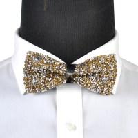 Men Boy Stylish Tie Glitter Crystal Rhinestone Sparkle ...