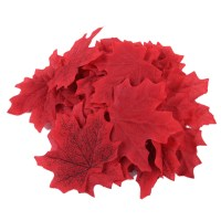 100x Fake Fall Maple Leaves Autumn Leaf Wedding Party Art