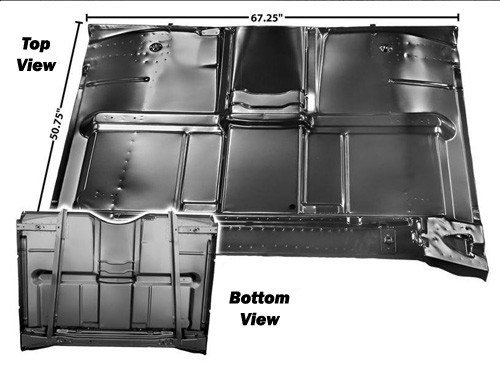 1967-72 Fullsize Chevy  GMC Truck Full Cab Floor Pan Assembly