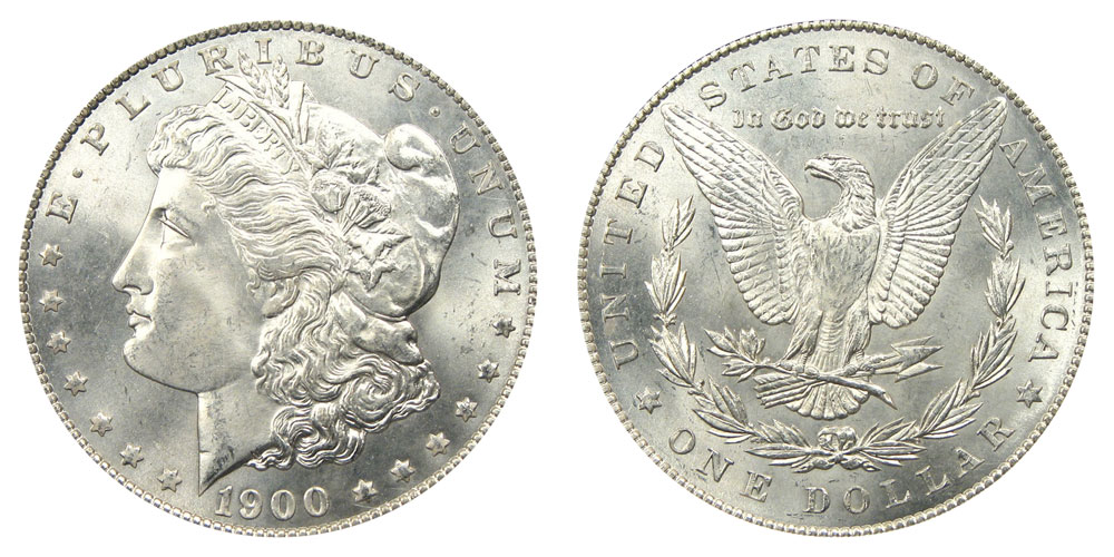 1900 Morgan Silver Dollars Value and Prices