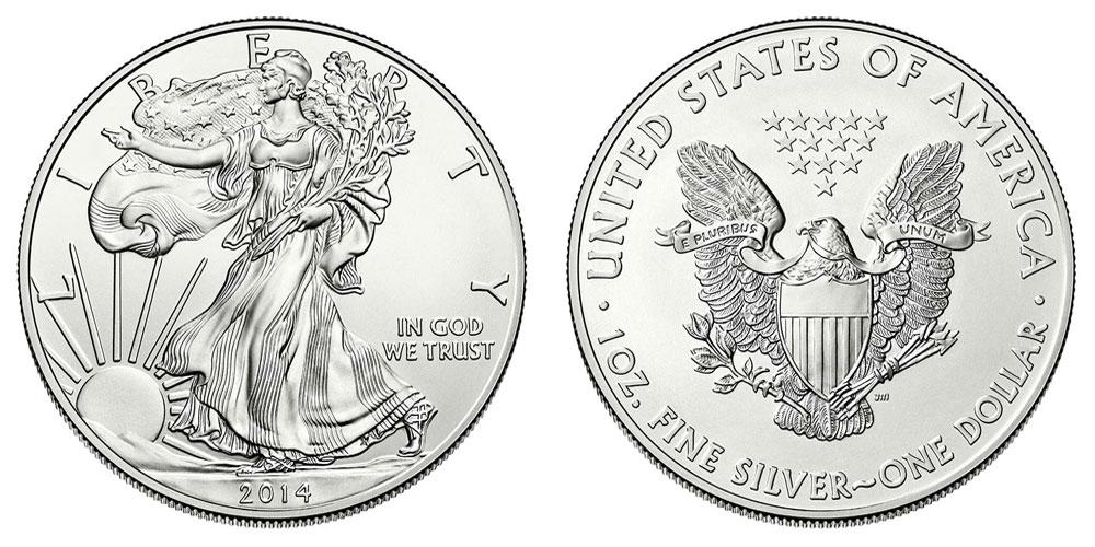 2014 W American Silver Eagle Bullion Coins Bullion (No Mint Mark