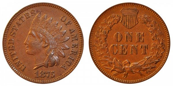 1875 Indian Head Cent Bronze Composite Penny Value And Prices
