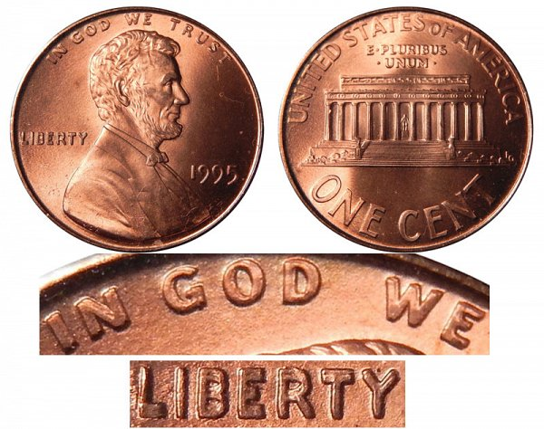 1995 Lincoln Memorial Cent Penny Doubled Die Value And Prices