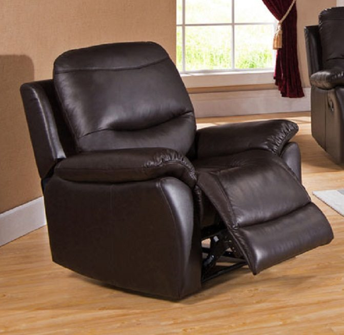 Pisa Real Leather Recliner