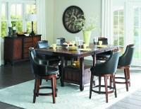7-Pc Homelgance Bayshore Counter Height Dining Set