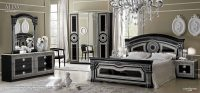 ESF Aida Black-Silver Bedroom Set