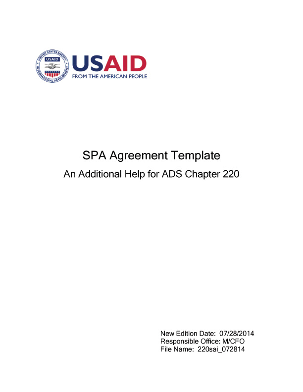 SPA Agreement Template