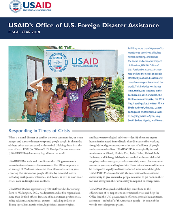 Disaster Assistance Working in Crises and Conflict US Agency - disaster relief flyer