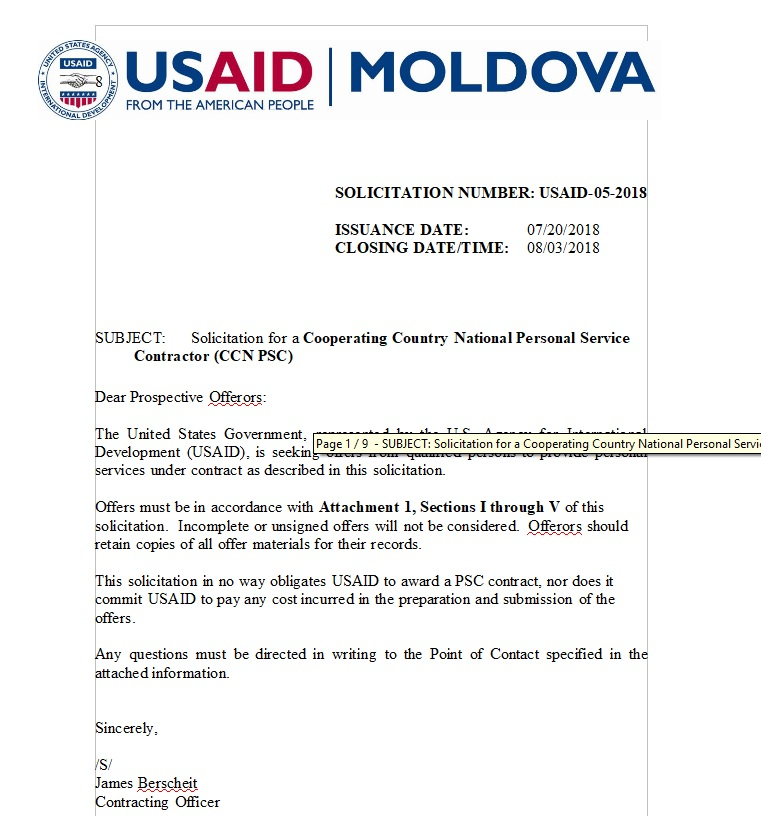 USAID Executive Office Administrative Assistant US Agency for