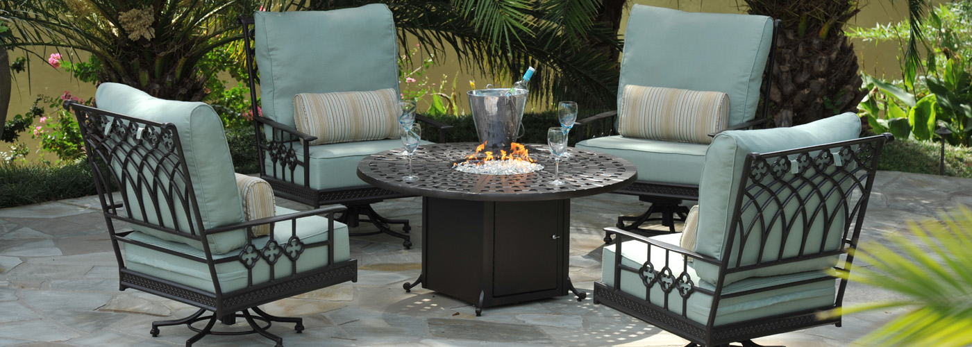 Windham Cast Aluminum Fire Pit Tables Usa Outdoor Furniture