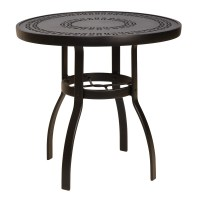 Woodard Deluxe 30 inch round Trellis Top Dining Table ...