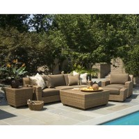 Woodard Reynolds Wicker Outdoor Sofa Set