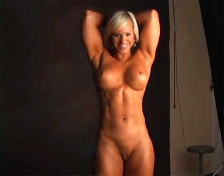family posing nude erection