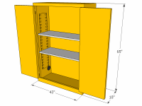 Flammable Storage Cabinet, 45 Gallons, CBBM45JP ...