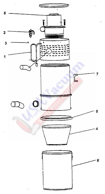 central vacuum schematic