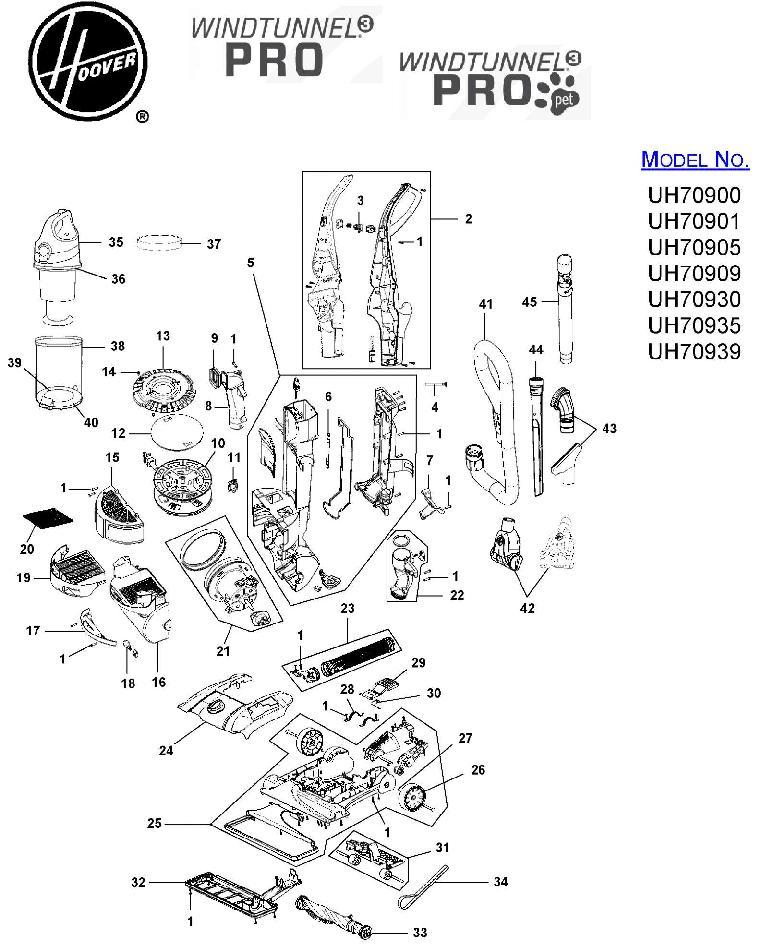hoover vacuum parts diagram