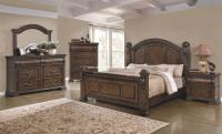 4 Piece Satterfield Bedroom Set Warm Bourbon Finish - USA ...