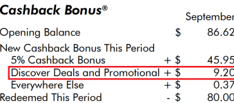 """""""Free May come"""" Discover Deals cash back network usage guidelines"""