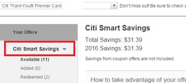 【starbucks 10%】Citi Smart Savings使用指南