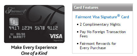 Chase Fairmont 信用卡——奢华2晚+另一张Freedom?