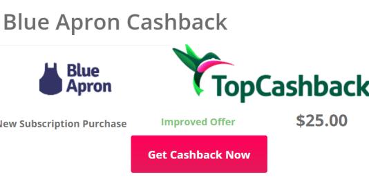 Topcashback+BlueApron=免费6餐+倒赚