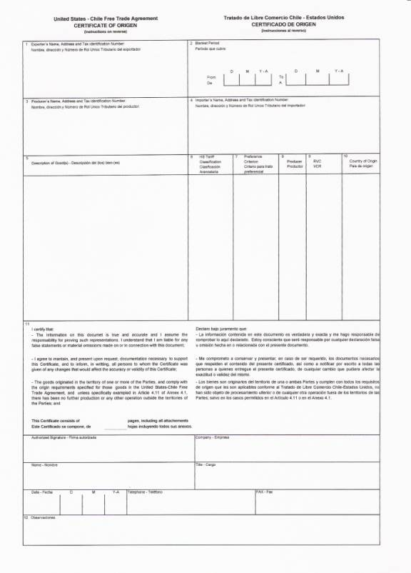 Untitled Document - country of origin certificate sample