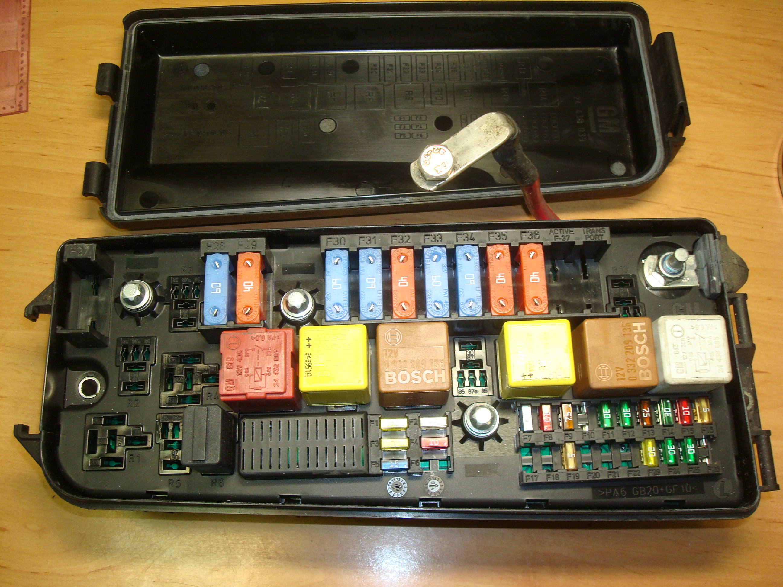 vauxhall zafira fuse box for sale