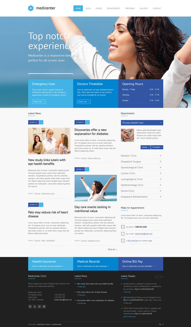 28 Best Health and Medical WordPress Themes (2018) - doctor office website template