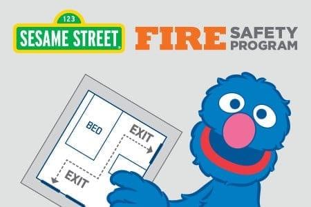 Sesame Street Fire Safety Program for preschool children
