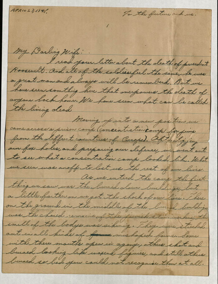 Page 1 of Letter from US Soldier Aaron Eiferman \u2014 United States