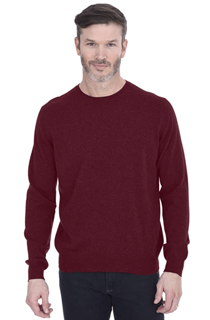 Cashmeren Men's Basic Crewneck Sweater 100% Pure Cashmere