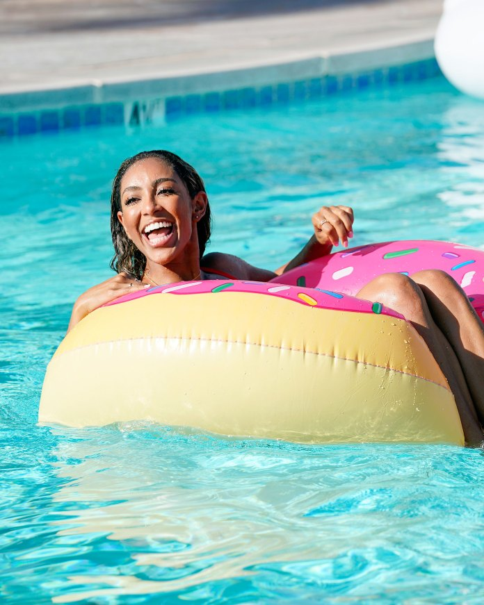 Tayshia Adams Floating In The Pool on The Bachelorette Tayshia Adams Reveals She Nearly Turned Down Being on The Bachelorette