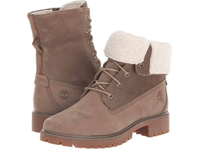 Timberland Jayne Waterproof Teddy Fleece Fold Down