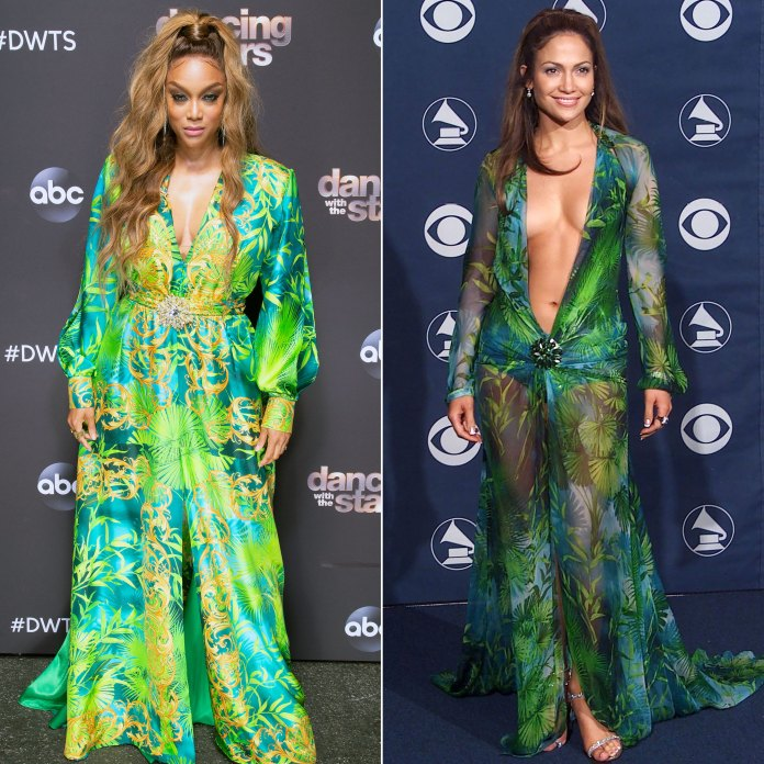Tyra Banks Recreates Jennifer Lopez's Most Iconic Look on 'DWTS'