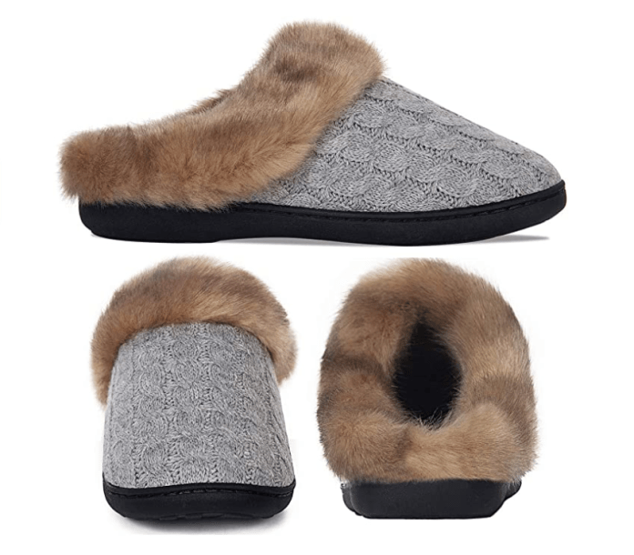 WateLves Women's Memory Foam Plush Fleece Lined Slippers