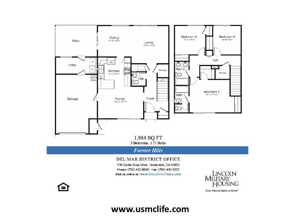 Forster Hills Military Housing Floor Plans Usmc Life