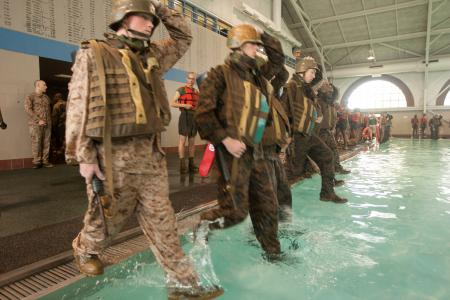 Water Survival Training In Boot Camp Marine Corps Usmc Life