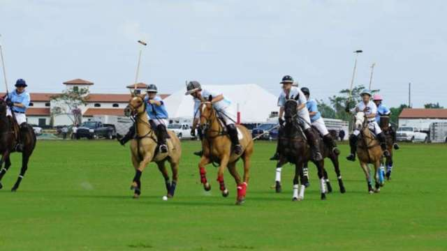 Women's polo tournament at Santa Rita Polo Farm.