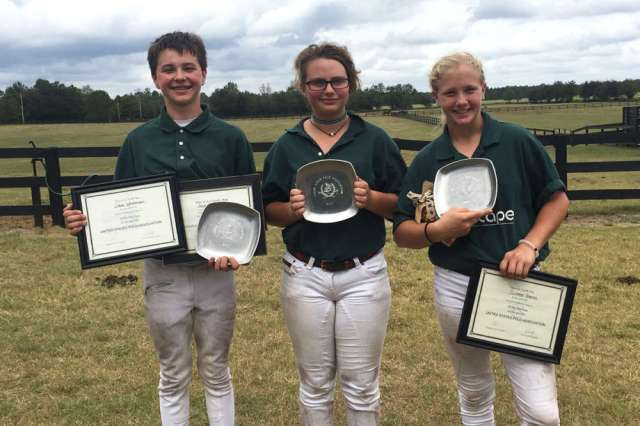 Aiken middle school tournament champions: Enviroscape  - (L to R) Jack Whitman, Alea Crespo, Summer Kneece.