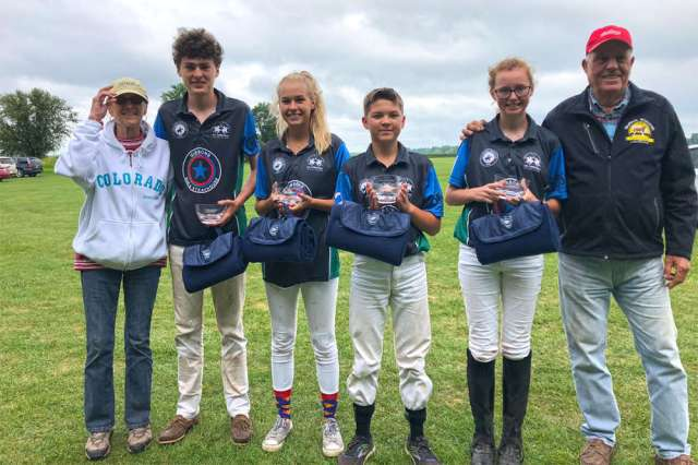 Blackberry Polo Club NYTS Qualifier Runners-up Gibson's (L to R) Barb Alexander, Angus Middleton, Lauren Platt, Will Mudra, Kelsey Bray, George Alexander.