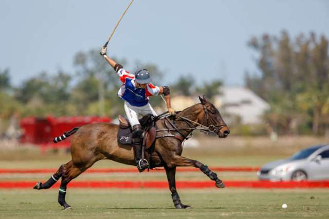 Viana and Nochebuena in the 2018 $50,000 National 12-goal tournament at Grand Champions Polo Club. ©Shelley Heatley Photography