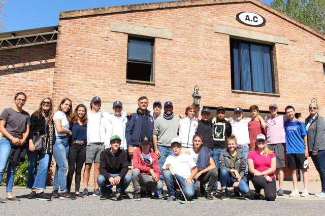 Adolfo Cambiaso gave a tour of his farm and facilities during the week-long program.